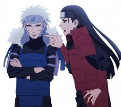 Aww Hashi having a go and Tobirama sulking - this makes me smile