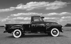 Sideways - Chevy Truck In Black And White Photograph by Gill Billington