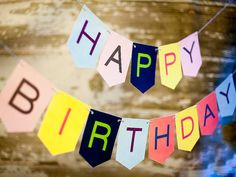 Printable Happy Birthday banner, instant download, birthday party decoration on Etsy, $5.00