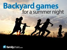 Backyard games for a summer night #summergames