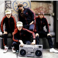 Beastie boys, track suits, old school adidas and a ghetto blaster