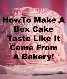 Wedding Cake Recipes How To Make A Box Cake Taste Like It Came From A Bakery - Add one more egg to the mix, or add 2 more if you want it even richer. Use melted butter instead of oil and double the amount. Use milk in Cakes To Make, How To Make Cake, How To Frost Cake, Bakery Cakes, Food Cakes, Cupcake Cakes, Bakery Box, Cake Cookies, Cake Mix Cupcakes