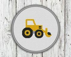 Wheel Loader Front Loader Rubber-tired Loader by CrossStitchShop