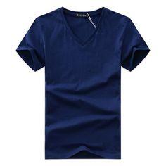 777829d5dad Summer Hot selling Men V neck t shirt cotton short sleeve high quality Men  Slim Fit tshirts