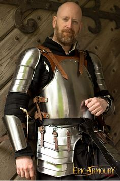 Brown Mercenary LARP Armor. Excellent for role playing a mercenary or Warrior character.