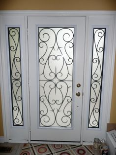 Decorative glass inserts for doors | Wrought Iron & Decorative (stained) Glass Door Inserts ...