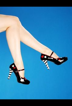 $36.80 Rockabilly Playing Card Maryjane Shoes with Platform
