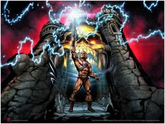 Cosplay Zinogre The Power Of Grayskull – Mad Duck Posters - Artist: Axel Giménez Edition: Regular - Fine Art Giclee Poster Run: 250 Size: 24 x 18 Status: In Stock Hand numbered, Limited Edition * Please note all sales are final. Master Of The Universe, Universe Art, Thundercats, He Man Desenho, Prince Adam, Minions, Screen Print Poster, Pop Culture Art, We Movie