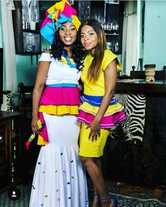 Pedi Traditional Attire, Sepedi Traditional Dresses, African Fashion Traditional, African Traditional Wedding Dress, African Wedding Attire, African Attire, African Wear, African Dress, Bride Dresses