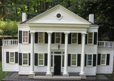 Outside Playhouse, Build A Playhouse, Southern Mansions, Revival Architecture, Modern Dollhouse, Girls Dollhouse, Diy Dollhouse, Play Houses, Doll Houses