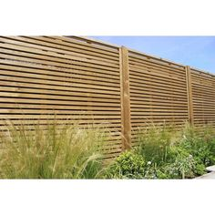 Venetian fencing situated in a garden