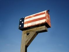 Patriotic. My mail box will look like this!!