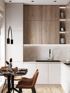 Industrial Kitchen Design, Kitchen Room Design, Contemporary Kitchen Design, Home Decor Kitchen, Room Design Bedroom, Interior Design Kitchen, Bathroom Design Small, Home Kitchens, Minimalist Small Bathrooms