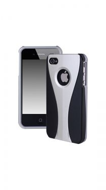 iPhone 4/4S Dual Color Hard Cover Case, Silver