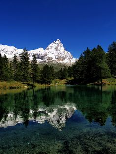 Lago Blu, Cervinia, Valle d'Aosta - the other side of the Matterhorn