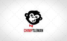 Smart Monkey Head Logo For Sale #creative #lab #logo #logos #vector #design #animal #animals #website #blog #stock logos for sale logo for sale