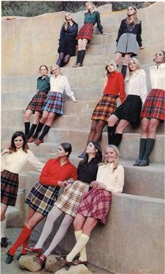 Late 1960's to early 1970's. The knee high socks, & loafers w/ heels. wore those ALady