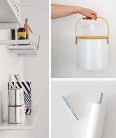 Make a sleek set of peg board shelves with Design Sponge! #tutorial #homedecor