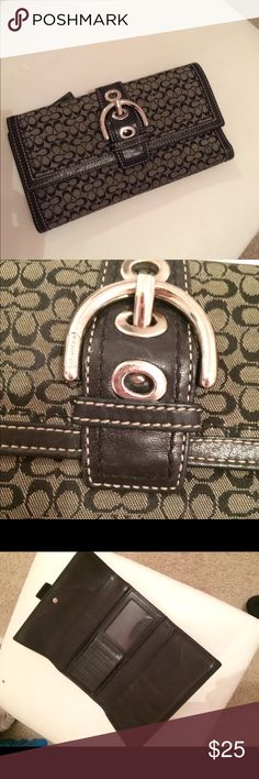 Coach wallet Authentic. Purchased at Coach outlet in Destin. The first card slot is pretty stretched out but still usable. Coach Bags Wallets