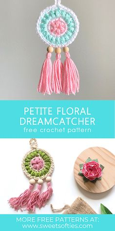 Crochet Home, Love Crochet, Crochet Gifts, Diy Crochet, Crochet Flowers, Vintage Crochet, Diy Earrings Crochet, All Free Crochet, Tutorial Crochet