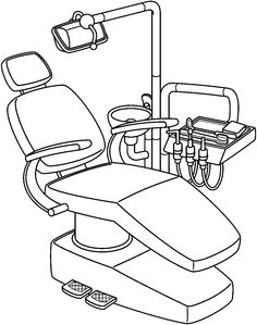 Dental Armchair Coloring Page. Free Coloring, Coloring Books, Coloring Pages, Dental Photography, Coloring Sheets For Kids, Clipart Black And White, Clipart Design, Pencil Art Drawings, Printable Coloring