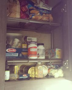 """R Pod pantry storage shelves!  These are the perfect solution for the tall narrow pantry cabinets.…"""""""