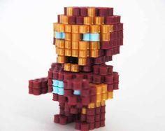 3D Marvel Iron Man perler beads figure by ToroKuro