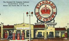 Huge Saint Louis Standard Red Crown Sign