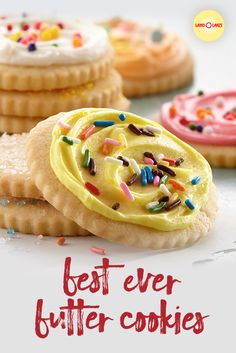 These tender, buttery cookies are perfect for decorating for any occasion. And eating. They're perfect for eating. Finger Desserts, Cookie Desserts, Christmas Desserts, Christmas Baking, Cookie Recipes, Dessert Recipes, Sweet Cookies, Sweet Treats, Buttery Cookies
