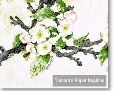 Paper Napkins for Decoupage and Party by tamaraspapernapkins Shabby Chic Napkins, Christmas Paper Napkins, Paper Napkins For Decoupage, Bird Boxes, Pastel Floral, Basket Weaving, Floral Wreath, Handmade Gifts, Crafts