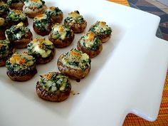 Triple Cheese Stuffed Mushroom Caps