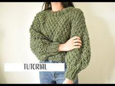 SUETER TEJIDO EN CIRCULAR || Tutorial - YouTube Crochet Crop Top, Knit Crochet, Circular Needles, Fur Coat, Pullover, Crop Tops, Sweaters, Cardigans, Knitting