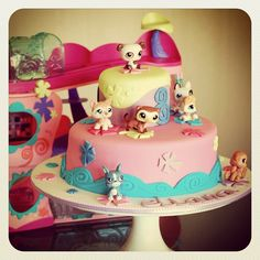 Littlest Pet Shop Fondant Cake