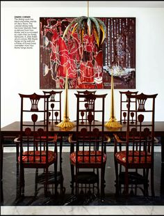 Modern Indian Style dining room from Architectural Digest India