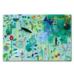 Blue Garden Blue Garden Children's Wall-Art [] - £29.95 : Artful Kids