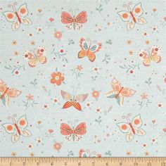 Bunny Tales Butterfly Blue from @fabricdotcom Designed by Lucie Crovatto for Studio E Fabrics, this hoppy print collection is perfect for spring and Easter. This cotton print is perfect for quilting, apparel and home decor accents. Colors include green, mint, seafoam, coral, pink, peach and white.