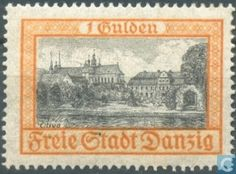 Timbres-poste - Danzig - Château Oliva German Stamps, Danzig, Stamp Collecting, Wwi, Postage Stamps, Poland, Printmaking, Postcards, Germany