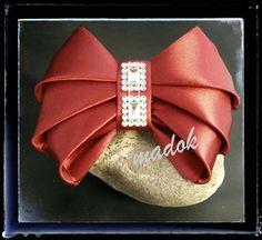 Haarspangen - Haarspange *Schleife* Kanzashi - ein Designerstück von Made-by-Dori bei DaWanda