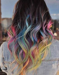 Colorful Hair Tips