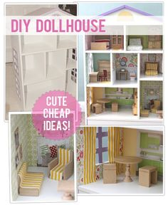 DIY Doll house - what I love about this is the use of a photograph to make the kitchen.