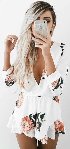 #summer #girly #outfits |  Flora Playsuit