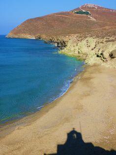 Beach on Anafi island, Greece