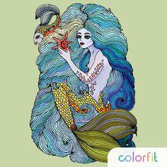 #colorfit #coloring #coloringbook #mermaid #русалка #антистресс