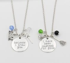 Wicked The Musical Elphaha and Glinda Inspired Friendship Necklace Set!50% OFF - FREE ShippingIf You Love WICKEDThe Musical You Will Absolutely Love This Char
