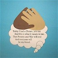 Martin Luther King Handprint Poem Craft for kids