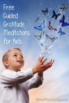 Free videos with guided gratitude meditations for kids; guided gratitude meditations for kids at home or in the classroom; mindfulness resources - Mindfulness for Kids Meditation Kids, Guided Mindfulness Meditation, Meditation Scripts, What Is Mindfulness, Mindfulness Exercises, Mindfulness For Kids, Meditation For Beginners, Mindfulness Activities, Mindful Activities For Kids