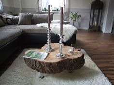 Design coffee table side table table natural wood tree disc with bark unique in furniture & living, furniture, tables Living Furniture, Wood Furniture, Tree Slices, Live Edge Wood, Wood Tree, Coffee Table Design, Diy Table, Natural Wood, Natural Coffee