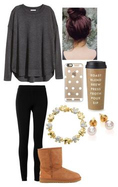 """""""Untitled #388"""" by hailstails ❤ liked on Polyvore featuring Kate Spade, Classic Treasures, Max Studio, H&M, UGG Australia, Casetify and Majorica"""