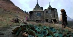 Hagrid's Hut was repaired after the fire. Description from harrypotter.wikia.com. I searched for this on bing.com/images