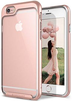 Caseology [Skyfall Series] Case for iPhone 6S Plus / iPhone 6 Plus - Slim Design Clear Transparent Protective Scratch Resistant Air Space Cushion Cover - (Rose Gold)